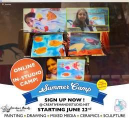 Online Summer camp flyer